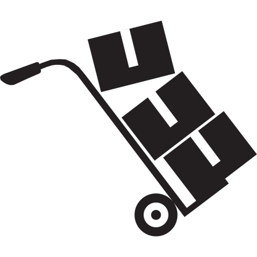 Moving And Packing Black Icon