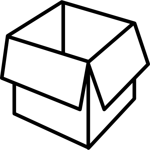 Packaging Box Opened Outline Icons Free Download