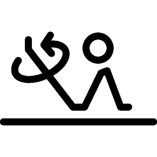 Turn Around Leg Posture Icons Free Download