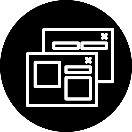 Seo Landing Pages Symbol Inside A Circle