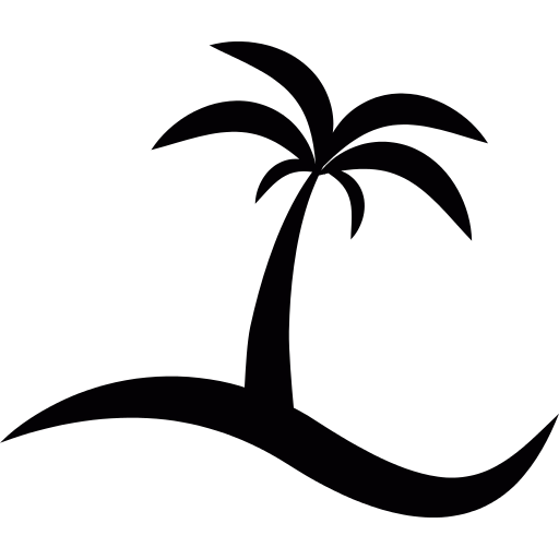 Island With A Palm Tree Png Icon