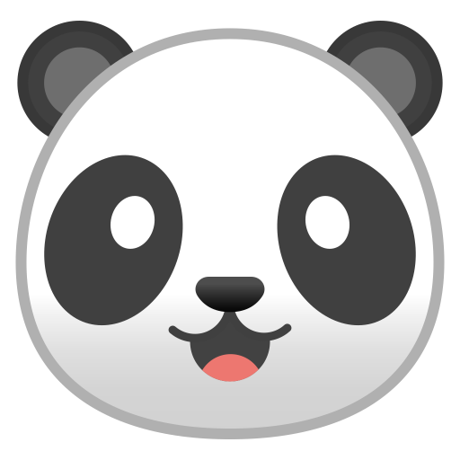 Panda Face Icon Noto Emoji Animals Nature Iconset Google