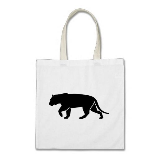 Black Panther Icon, Logo Graphic Canvas Bags Cool Cat Chic