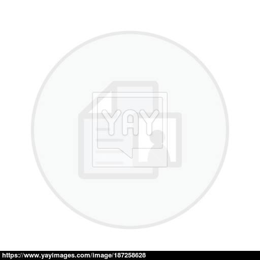 Office Paper White Button Icon Vector