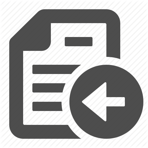 Arrow, Button, Document, File, Left, Paper, Sheet Icon