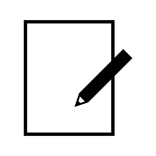 Pencil And Paper Icon Png