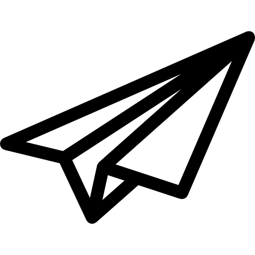 Paper Airplane Outline Icons Free Download