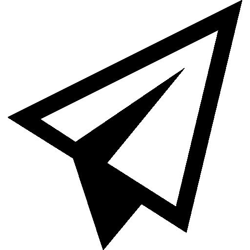 Paper Airplane Symbol Icons Free Download
