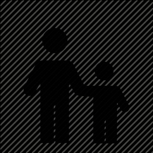 Boy, Child, Father, Holding Hands, Man, Parent, Pedestrians Icon