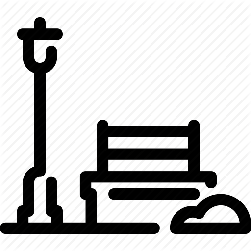 Bench, City, Park, Recreation Icon