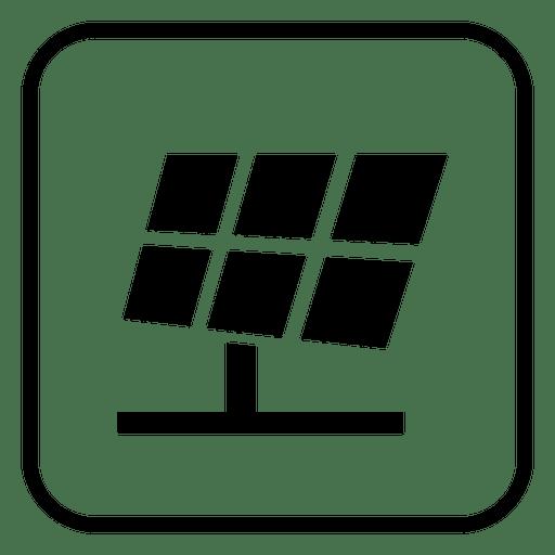 Solar Panel Square Icon