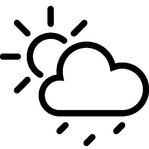 Weather Partly Cloudy Ran Ios Iconset