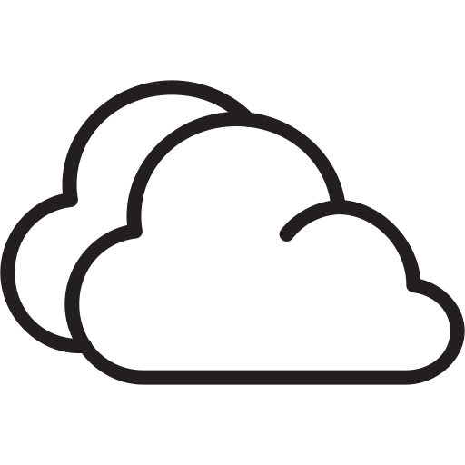 Cloudy Outline Icon