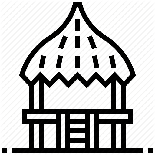 Building, Cottage, Hawaii, Home, House, Hut, Pavilion Icon