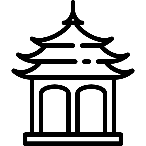 Buddhist Pavilion Icons Free Download