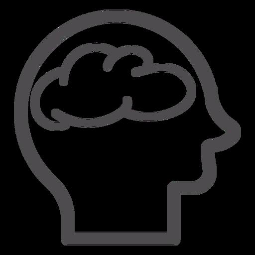 Head With Brain Stroke Icon