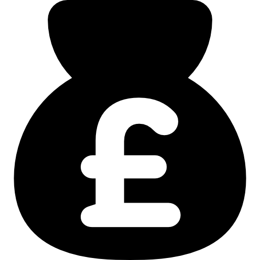 Money Bag With Pound Sign Icons Free Download