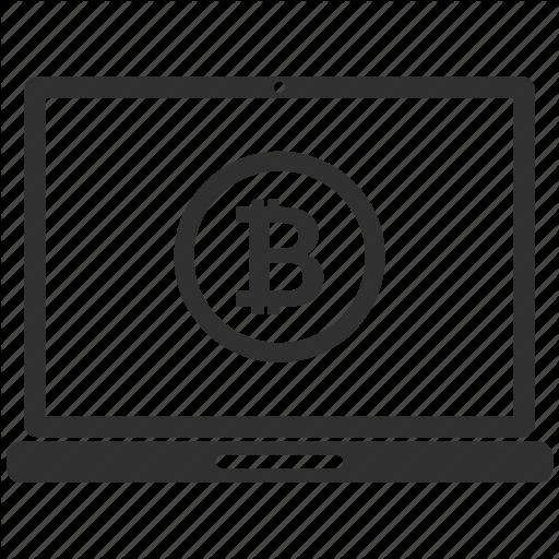 Bitcoin, Laptop, Moneysend, Pc Icon