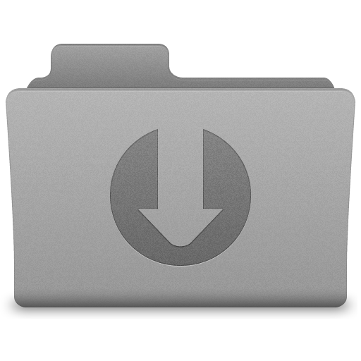 Grey Downloads Folder Icon