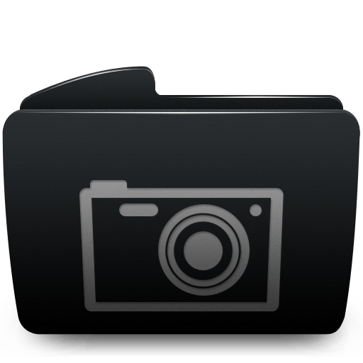 Black, Folder, Photos Icon