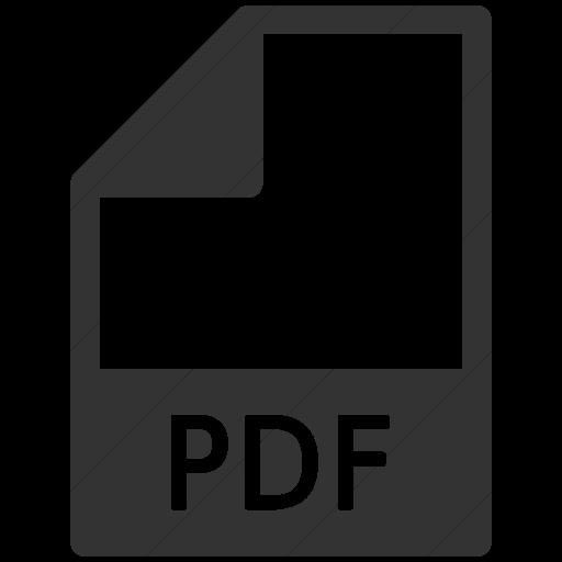Simple Dark Gray Mime Types Document Pdf Icon