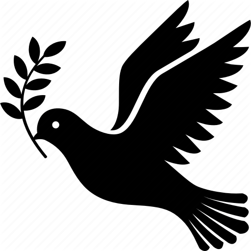 Bird, Branch, Dove, Flying, Olive, Peace Icon