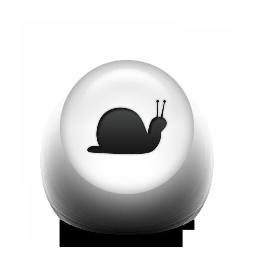 Black White Pearl Icon Animals Animal Snail