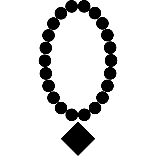 Pearl Necklace With Diamond Pendant Icons Free Download