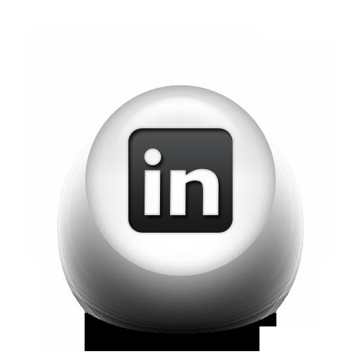 Black White Pearl Icon Social Media Logos Linkedin Logo