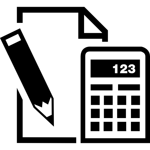 Paper Pencil And Calculator Icons Free Download