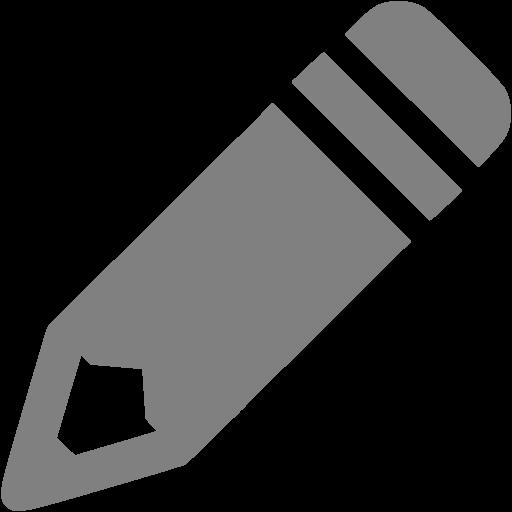 Gray Pencil Icon