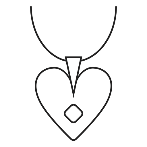 Heart Pendant Necklace Icon