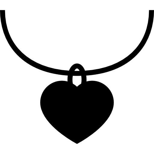 Heart Shaped Jewelry Pendant Icons Free Download