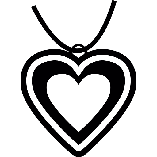 Heart Pendant Icons Free Download