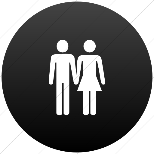 Classica Man And Woman Holding Hands Icon Style Flat Circle