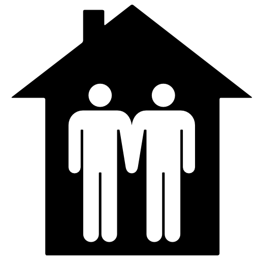 Two People In House Icon Free Icons Download