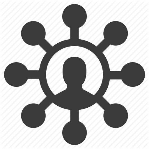 Connection, Links, Nodes, Person, Social, User Icon