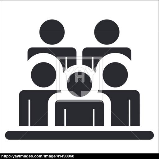 Vector Illustration Of Single People Icon Vector