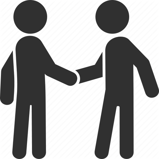 Figures Shaking Hands Icons
