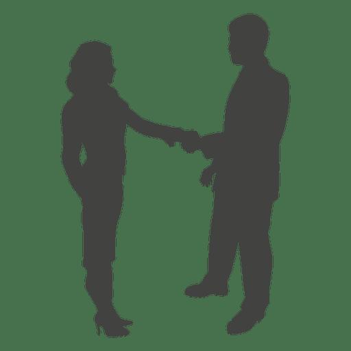 Businessman Woman Shaking Hand