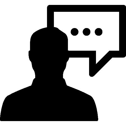 People Speaking Flat Icon