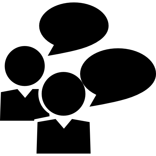 Students Talking Icons Free Download