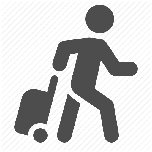 Walking Man Icon With Box Images