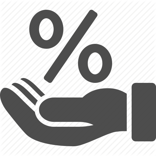 Business, Discount, Hand, Percentage, Percentage Sign, Shopping Icon