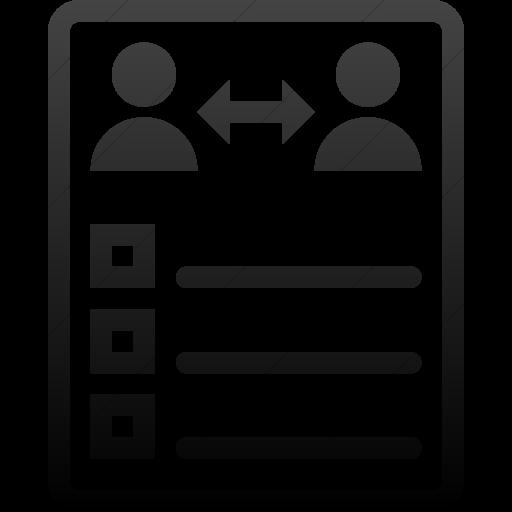 Simple Black Gradient Iconathon Peer Evaluation Icon