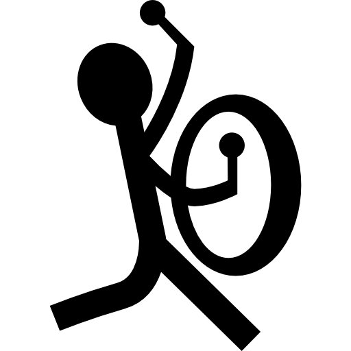 Musician With A Percussion Instrument Icons Free Download