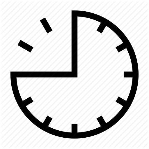 Clock, Face, Hour, Period, Section, Three Quarters, Time Icon