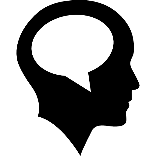 Bald Head With Speech Bubble Inside Icons Free Download