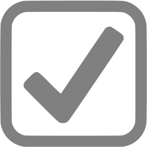 Gray Checked Checkbox Icon