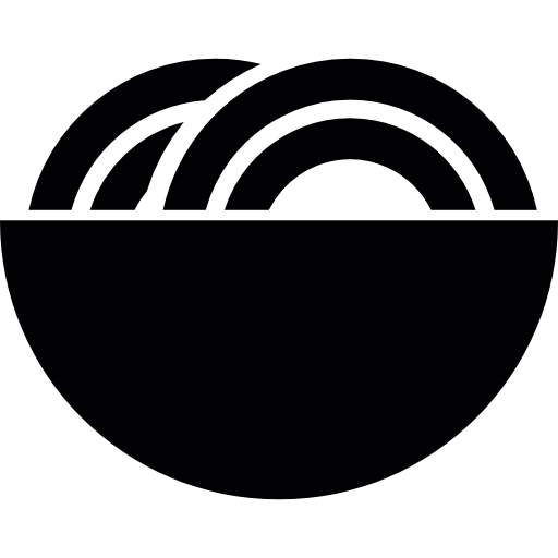 Noodle Soup On A Bowl Icons Free Download